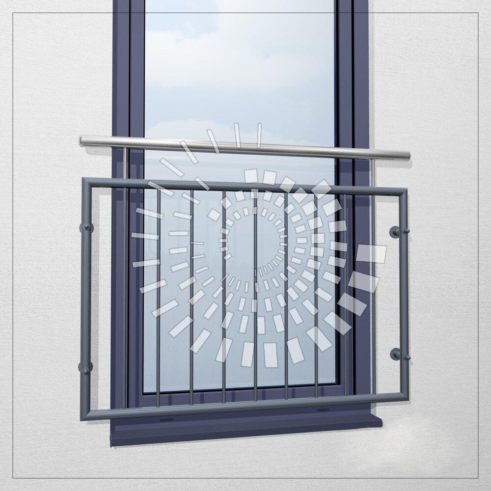 Пример французского балкона из нержавеющей стали