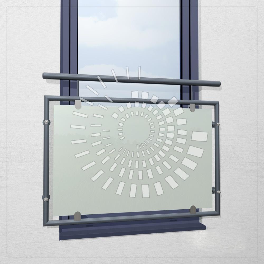 Пример французского балкона из нержавеющей стали со стеклом