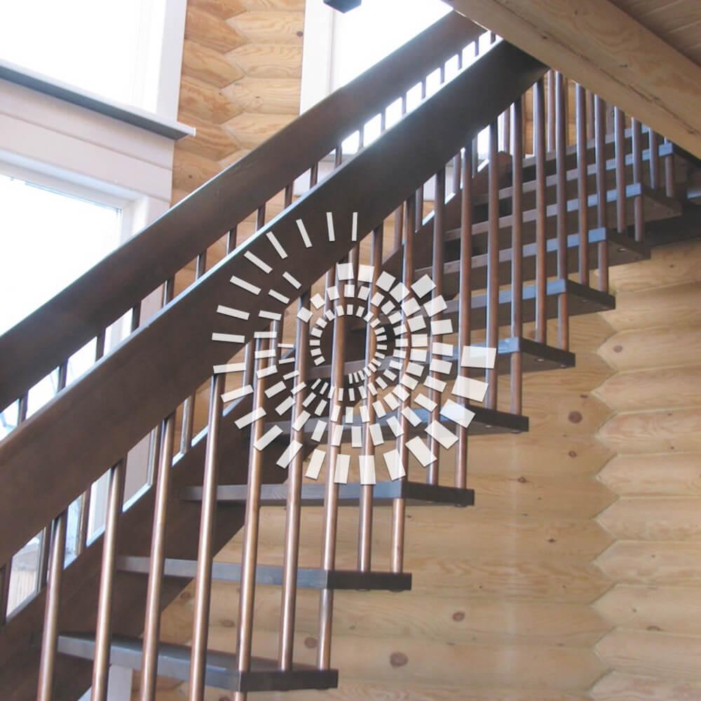 Лестница для загородного дома ЛЗД-1