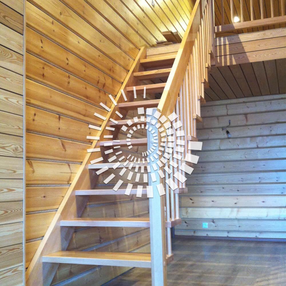 Лестница для загородного дома ЛЗД-2