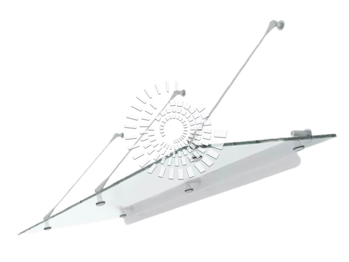 Стеклянные козырьки на вантах СК-2 компании InoxMetal