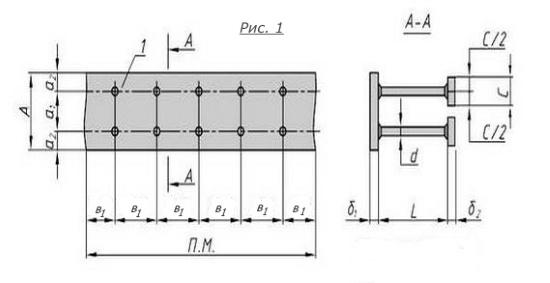 Схема закладной детали МН-127-132 компании InoxMetal