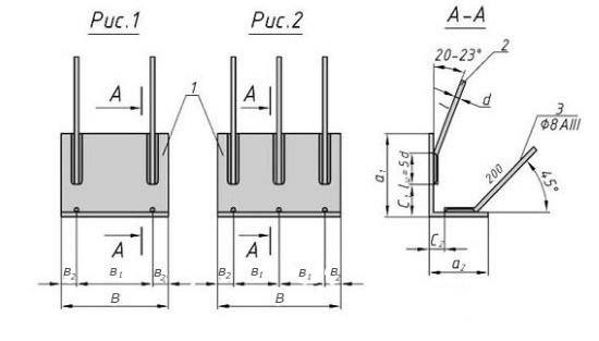 Схема закладной детали МН 516 компании InoxMetal