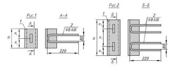Схема закладной детали МН 558-563 компании InoxMetal
