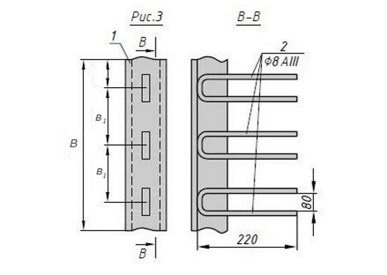 Схема закладной детали МН 564-565 компании InoxMetal