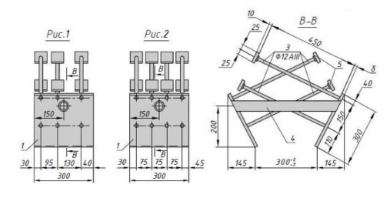 Схема закладной детали МН 616 компании InoxMetal