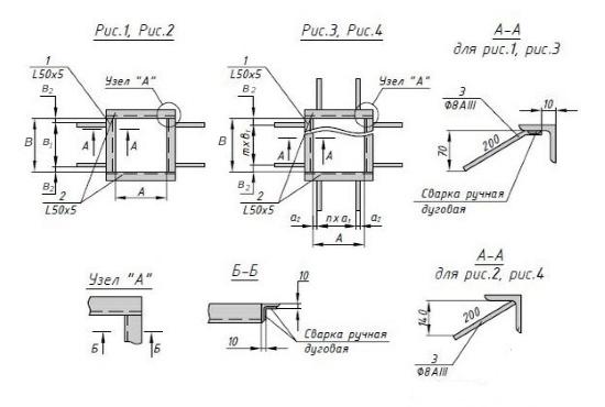 Схема закладной детали МН 701-725 компании InoxMetal