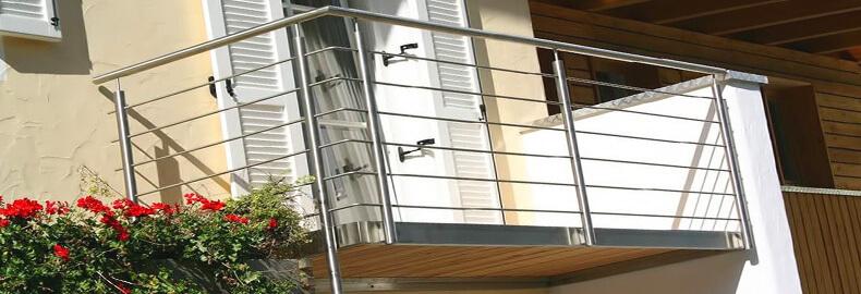 Перила и ограждения из нержавеющей стали. Ограждение балкона