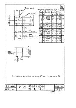 Схема закладной детали МО-1 компании InoxMetal