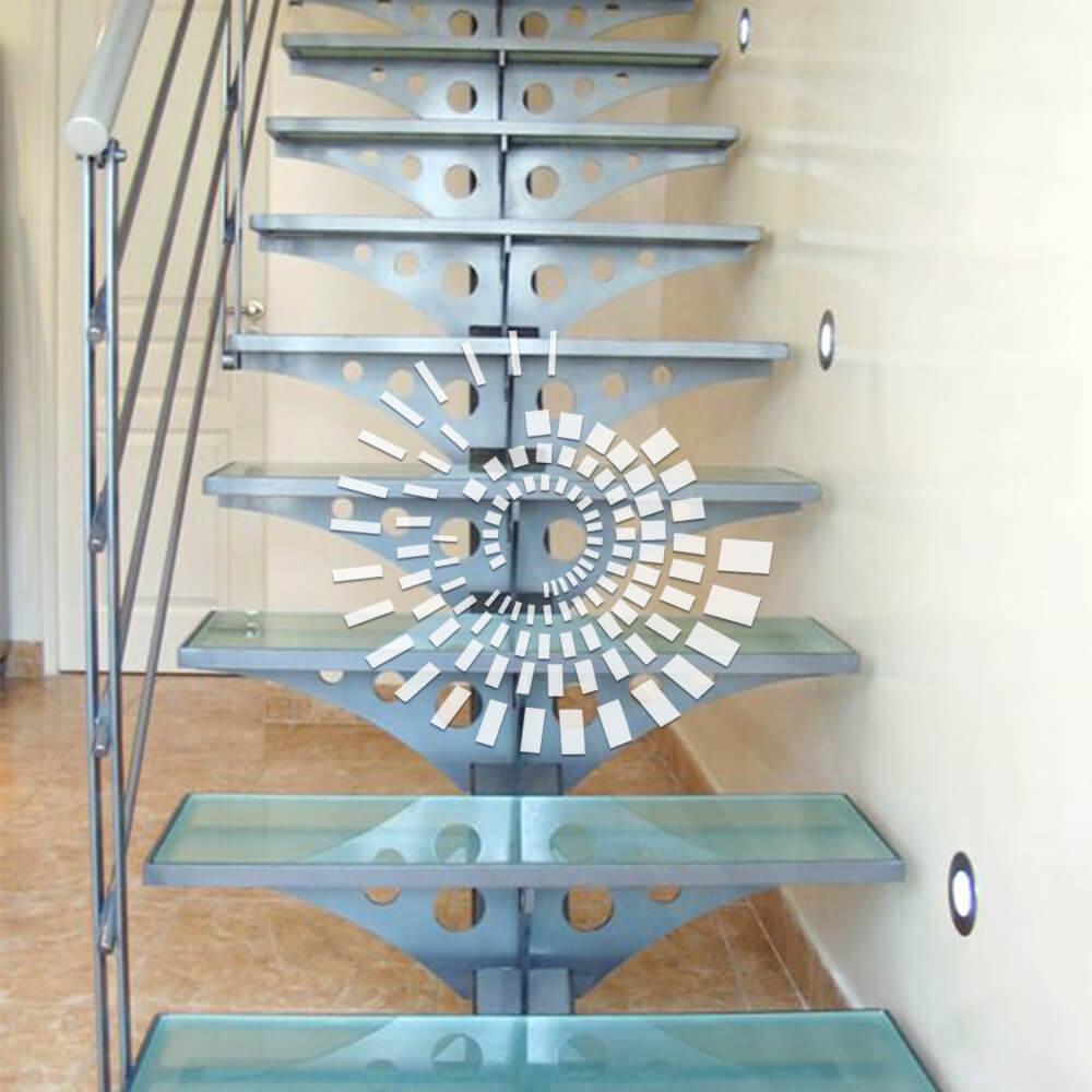 Стеклянная лестница СЛ-2