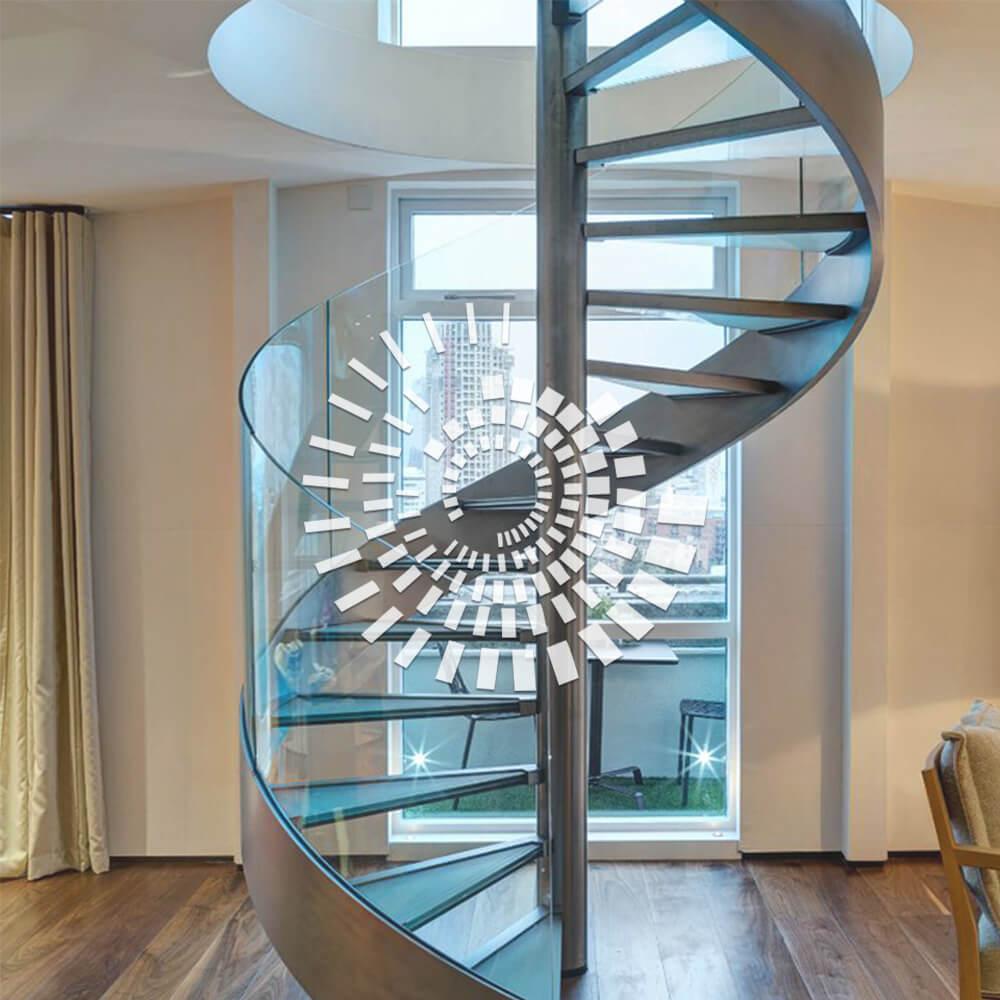Стеклянная лестница СЛ-3