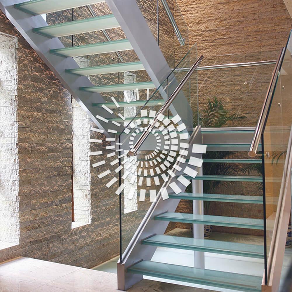 Стеклянная лестница СЛ-4