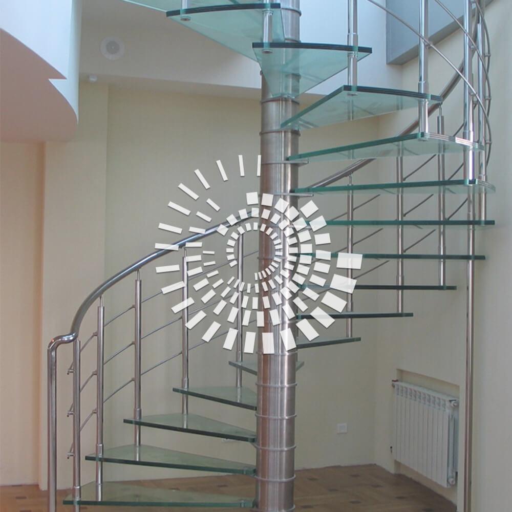 Стеклянная лестница СЛ-5