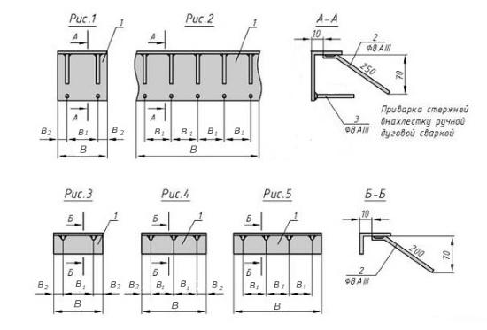 Схема закладной детали МН 539-548 компании InoxMetal
