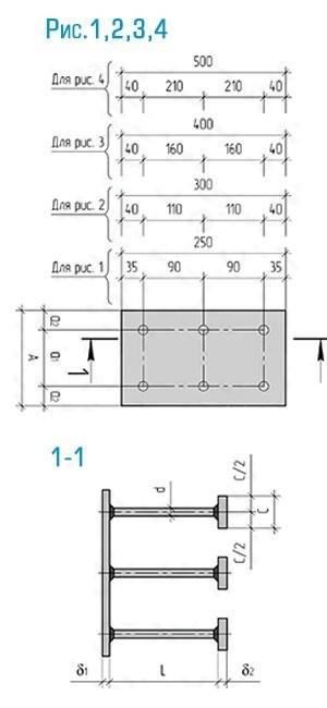 Схема закладной детали МН-133-145 компании InoxMetal