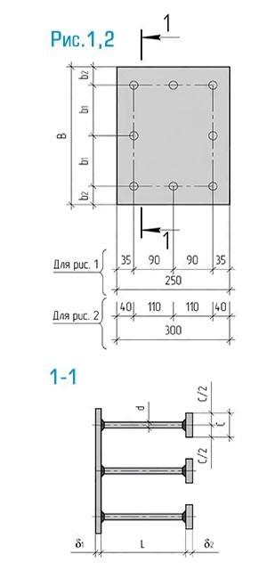 Схема закладной детали МН-133-146 компании InoxMetal