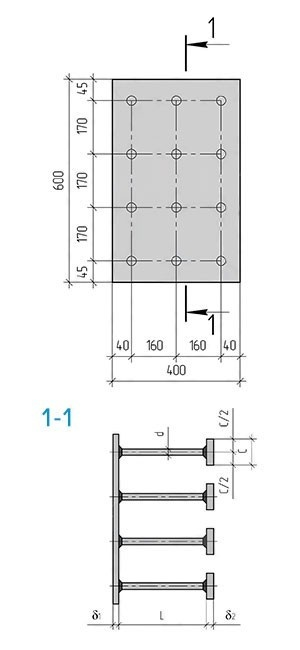 Закладная деталь МН-163-164 компании InoxMetal