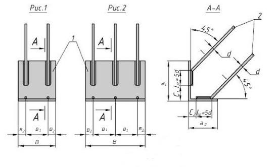 Схема закладной детали МН 523 компании InoxMetal