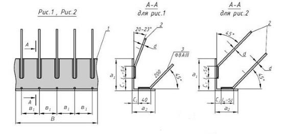 Схема закладной детали МН 517 компании InoxMetal