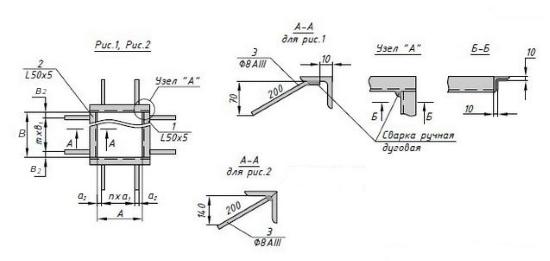 Схема закладной детали МН 726-775 компании InoxMetal